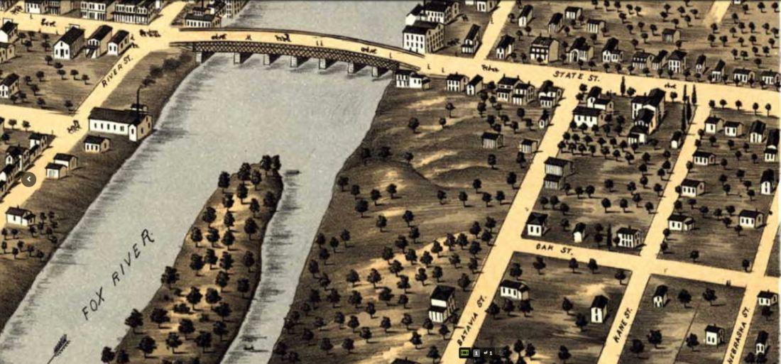 Birdseye view 1869
